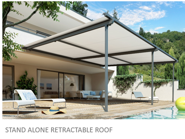 If You Require A Larger, More Permanent Outdoor Shade Area, We Have Many  Options In Retractable Fabric Roofs That Will Give You The Protection That  You Are ...